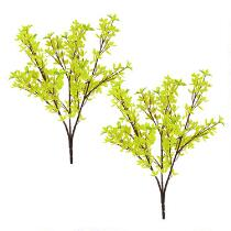 "23"" Faux Forsythia Floral Branch, Set of 2"