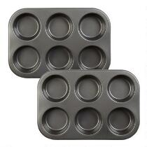 6-Cup Texas Muffin Pans, Set of 2