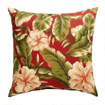 Red Palm Indoor/Outdoor Square Throw Pillow