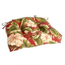 Red Palm Indoor/Outdoor Single-U Seat Pad