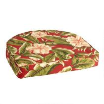Red Palm Indoor/Outdoor Gusset Seat Pad