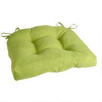 Solid Green Indoor/Outdoor Single-U Seat Pad