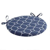 Nautical Knots Indoor/Outdoor Round Bistro Seat Pad