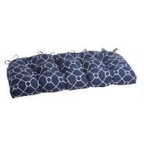 Nautical Knots Indoor/Outdoor Double-U Bench Seat Pad