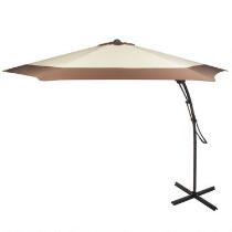 10' Beige Offset Outdoor Umbrella