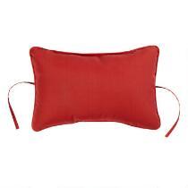 Solid Red Indoor/Outdoor Headrest Pillow