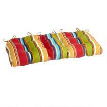 Fiesta Stripe Indoor/Outdoor Double-U Bench Seat Pad