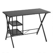 2-Shelf X-Side Metal Desk