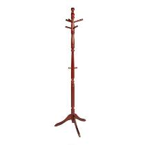 "72"" Wood Swivel-Top Coat Rack"