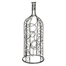 Wine-Shaped Scroll Metal 4-Bottle Holder