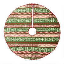 Fairisle Knitted Christmas Tree Skirt