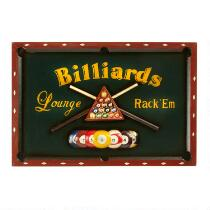 "24""x16"" Billards Wall Sign"