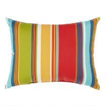 Fiesta Stripe Indoor/Outdoor Oblong Throw Pillow