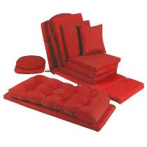 Solid Red Indoor/Outdoor Chair Cushions Collection
