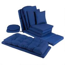 Solid Cobalt Indoor/Outdoor Chair Cushions Collection