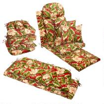 Red Palm Indoor/Outdoor Chair Cushions Collection