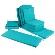 Solid Turquoise Indoor/Outdoor Chair Cushions Collection