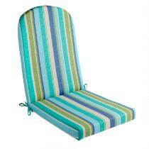 Green/Blue Striped Indoor/Outdoor Adirondack Chair Pad