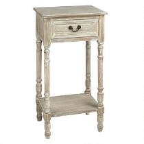 Seabrook Antique White Accent Table with Drawer