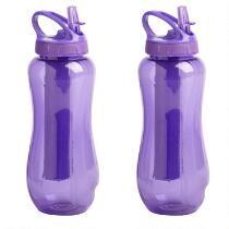 Purple EZ-Freeze® Horizon Water Bottles, Set of 2