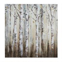 "30"" Birch Forest Canvas Wall Art"
