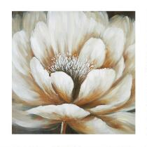 "30"" White Flower Canvas Wall Art"
