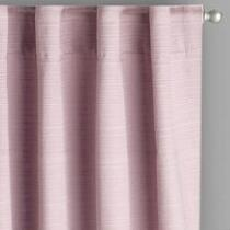 Amethyst Linear Texture Rod Pocket Window Curtains, Set of 2