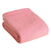 Solid Chevron Cotton Blanket