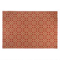 8'x11' Red Leonie Tributeary All-Weather Woven Area Rug