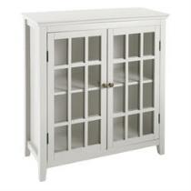 Largo Antique 2-Door Lattice Cabinet