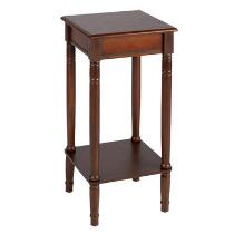 Walnut Wood Square Accent Table