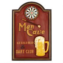 "16""x24"" ""Man Cave"" Beer and Darts Wall Sign"