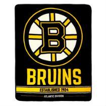 NHL Boston Bruins Plush Throw Blanket