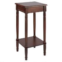 Dark Brown Square Accent Table