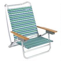 5-Position Striped Beach Chair