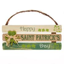 """Happy Saint Patrick's Day"" Slatted Wood Sign"