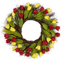 "22"" Artificial Tulip Wreath"
