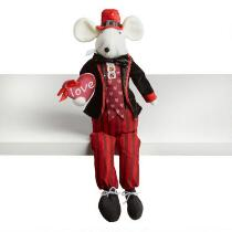 """20"""" Boy Mouse Ledge Sitter with """"Love"""" Heart"""