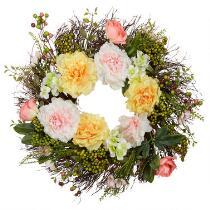 """25"""" Peony and Hydrangea Wreath"""