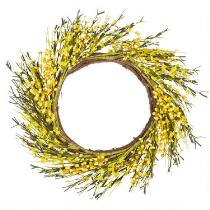 "21"" Flowers and Berries Spiral Twig Wreath"