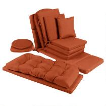 Solid Tangerine Indoor/Outdoor Chair Cushions Collection