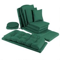 Solid Hunter Green Indoor/Outdoor Chair Cushions Collection