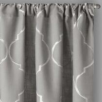 """84"""" Lexi Ogee Embroidered Window Curtains, Set of 2"""