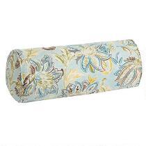 Jacobean Floral Indoor/Outdoor Lumbar Roll Pillow