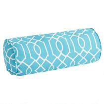 Aqua Lattice Indoor/Outdoor Lumbar Roll Pillow