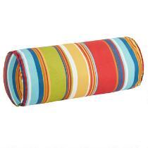 Fiesta Stripe Indoor/Outdoor Lumbar Roll Pillow
