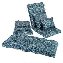 Blue Medallion Indoor/Outdoor Chair Cushions Collection