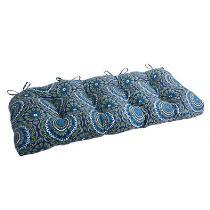 Blue Medallion Indoor/Outdoor Double-U Bench Seat Pad