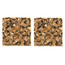 """12"""" Small Pebbles Stepping Stones, Set of 2"""
