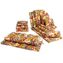 Red Tropical Indoor/Outdoor Chair Cushions Collection
